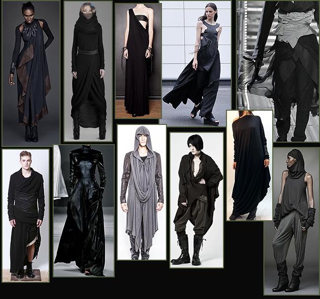 Si indossano spesso anche più strati ed è diffuso l uso di cappotti e  pellicce o di giacconi e mantelle incerate per proteggersi dalle frequenti  piogge. 0690b23f9c0